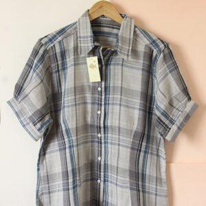 Camisa gasa algodón escocés