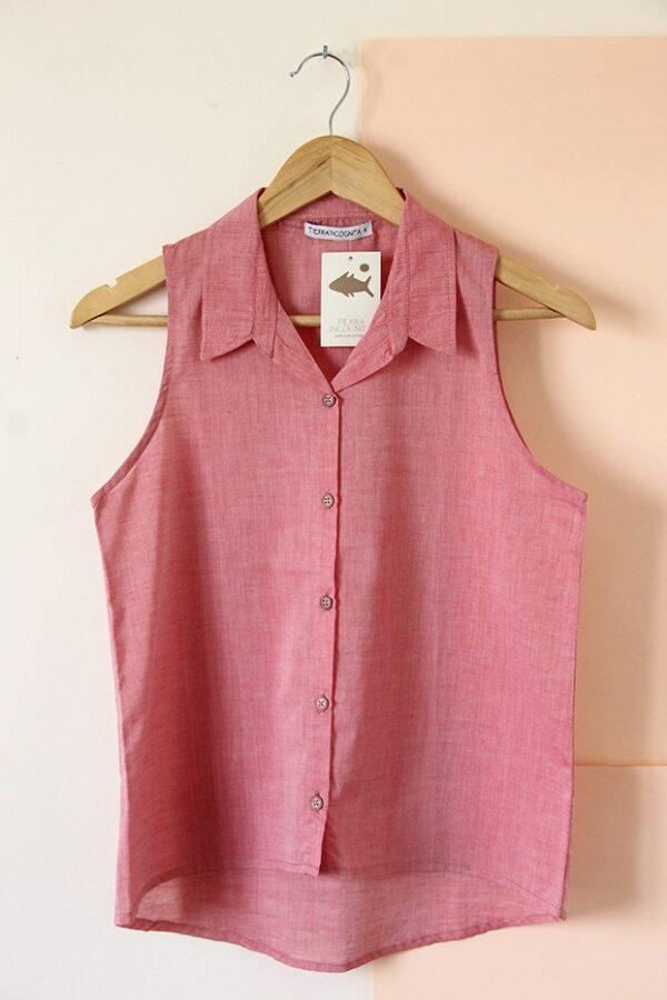 Camisa sin manga voile