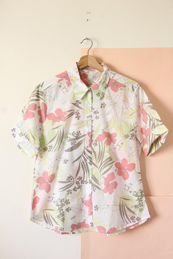 Camisa voile flores