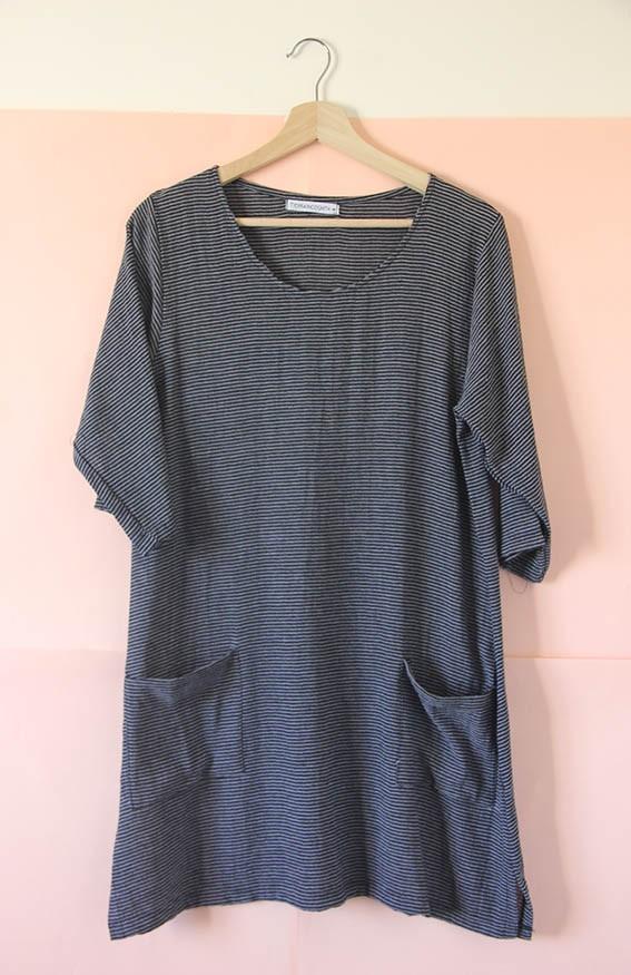 Vestido Remerón de viscoza gris