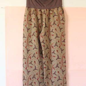 Pantalón África de lino italiano estampado
