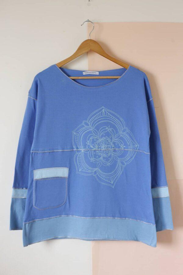 Remera Tricolor azul francia