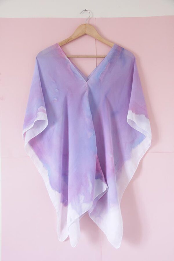 Poncho seda batik